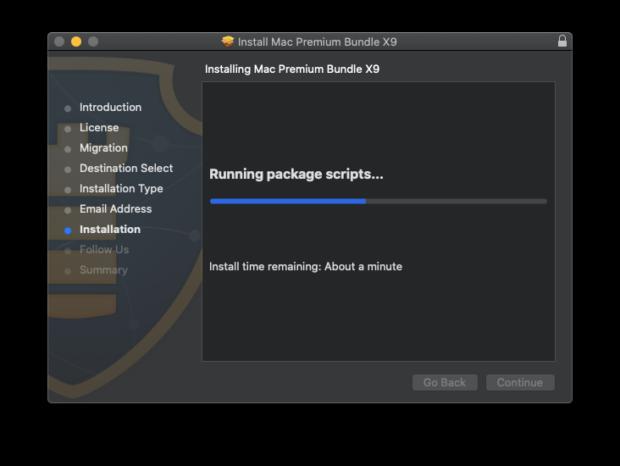 Mac Premium Bundle X9 setup process